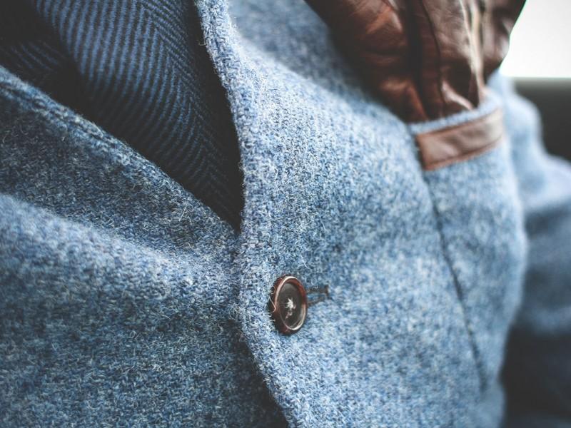 Bluish suit